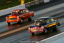 Vinnie DiRose And Pete Esposito Qualify Side By Side In A Tri Five Shoebox Shootout For The Drag Racing Fans